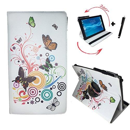 Case Tasche für CHUWI Hi 10 Pro 2 in 1 ultrabook Tablet PC Schutz Hülle Etui + Touch Pen – 10.1 Zoll Schmetterling 360_