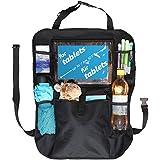 Rücksitz Organizer Kinder | Rückenlehenschutz | Kick mat mit praktischen Rücksitztaschen inklusive Tablet Halterung