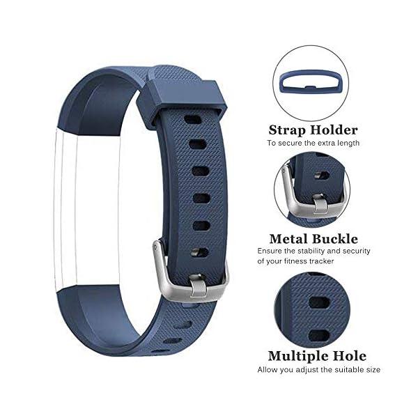 Rayfit Pulseras de Repuesto para Fitness Tracker Correa ID115U / Correa 115U / 115UU Smart Band Correa Repuesto de Reloj… 4