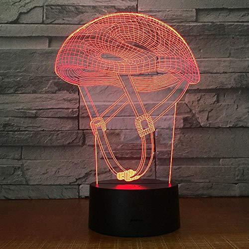 Yoppg 3D Nachtlicht Touch Switch LED7 Farbe Desktop Optische Täuschung Usb Oder Batteriebetriebene Reitmütze Fernbedienung