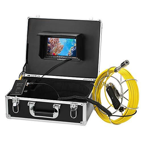 Lixada Fischfinder Unterwasserfischen Kamera 20/30M Abfluss-Rohr-Kanal-Inspektions-Kamera IP68 Wasserdicht (20M) ...
