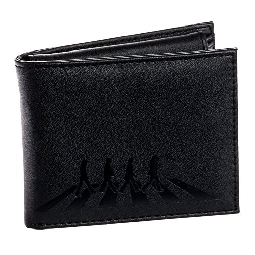 Beatles Mens Abbey Road Bifold Wallet w/ Removable ID Case (Black)