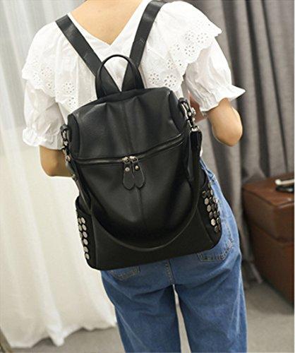 FOLLOWUS , Sac à main porté au dos pour femme, Noir 02 (noir) - G72220B Noir 02