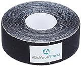 1x PREMIUM Kinesiologie Tape, elastische Qualitäts-Bandage / 100% gewebte Baumwolle / wasserresistent / neue Klebeformel für besseren Halt...