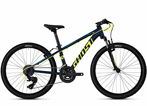 Ghost Kato 2.4 AL U 24R Kinder & Jugend Mountain Bike 2019 (24 Zoll, Night Blue/Neon Yellow/Riot Blue)