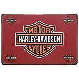 MARQUISE & LOREAN Plaques Metallique Vintag Harley Davidson | Affiche et Poster Décoratives Murales Moto | Signe Decoration