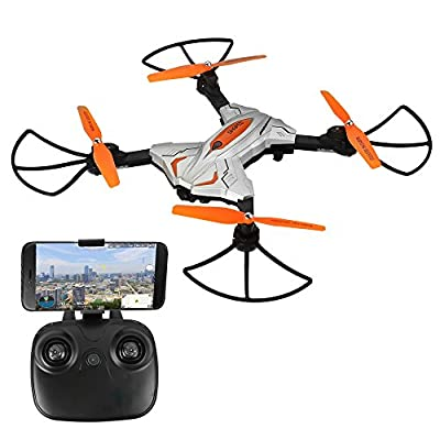 ESGOT TK111W Foldable RC Drone 2.4GHz 6-Axis Gyro Wifi Remote Control Quadcopter with HD Camera