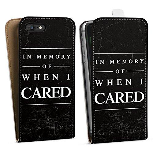 Apple iPhone X Silikon Hülle Case Schutzhülle Spruch Humor Statement Downflip Tasche weiß