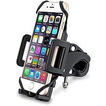 [Support Vélo du Guidon] VicTsing Support Universel Téléphone Rotatif à 360 Bracelet en Caoutchouc Taille Réglable Compatible avec iPhone SE 6S 6S Plus 6 5S, Galaxy S6 Edge S6 S5, GPS, Kindle, etc