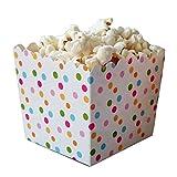 6 Regenbogen-Konfetti-Punkte Snack-Schachteln