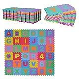 HOMCOM Alfombra puzle 192x192 cm Niños 3 años 36 Piezas
