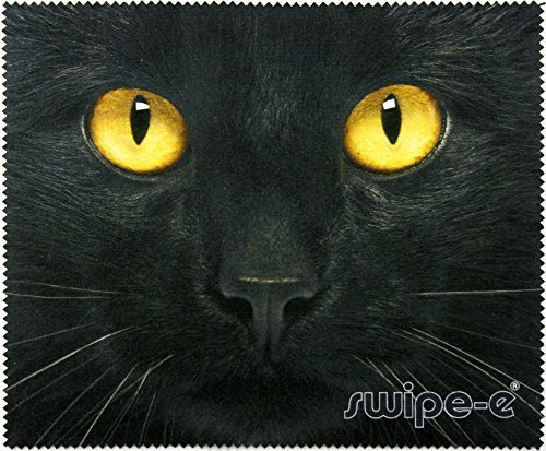 swipe-e-black-cat-print-18x15cm-multi-purpose-microfibre-cleaning-cloth-for-glasses-ipad-camera-lens