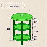 Wisdom Regale & Lagerung 3 Tier Runde Regalrahmen Sofa Beistelltisch Einheit Lagerung Display Wohnzimmer Badezimmer in 4 Farben 51 * 62.5CM Robust Durable,Milchig