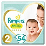 Pannolini per bambini Premium Protection di Pampers (versione tedesca) Misura 2 (4-8 kg); la confezione contiene 54 pezzi.