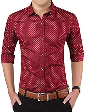 ZAKOD Dotted Cotton Shirts for Men for Formal Use,100% Cotton Shirts,Available Sizes M=38,L=40,XL=42
