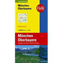 Falk Regionalkarte München - Oberbayern 1:150 000 Augsburg, Innsbruck, Salzburg, Passau