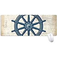 Rudder Exploration Military Ocean Army Non-Slip Mousepad Large Extended Game Office titched Edges Computer Mat Gift