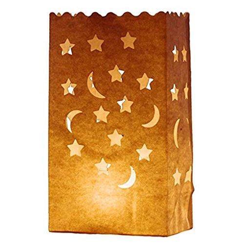 Morza 10pcs Papierlaterne-Beutel-Tee-Licht-Kerze-Halter für Heim Romantische Hochzeit Dekoration