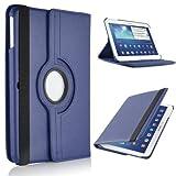 Samsung Galaxy Tab 410.1Case Cover Leder 360Grad Drehbar Für Samsung Galaxy Tab 425,7cm SM-T530N SM-T535Tablet Dunkelblau