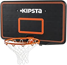 Kipsta B300 Adult Basketball Backboard - Black/Orange