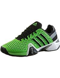 adidas Adipower Barricade 8+ Zapatillas de tenis de arcilla para hombre m18580verde, hombre, Adipower Barricade 8+ Clay, Highlight Green, 11.5 UK