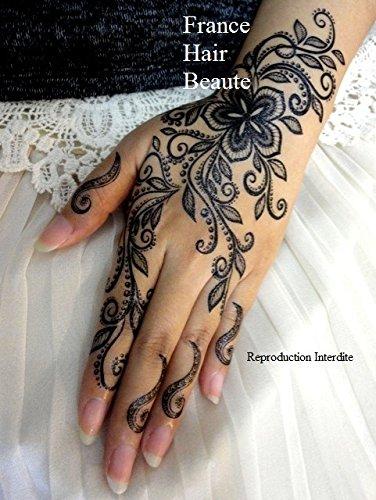 Tatuaggio temporaneo, stile henné, colore: nero   - - - - tatuaggio temporaneo.  - -