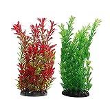 Vivifying acquario piante artificiali, 2pezzi, altezza 24,9cm. Plastica piante per acquari