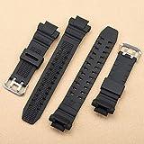 creatspaceDE Ersetzen Uhrenarmband Lederarmband Ersatzuhrenarmband Uhrenzubehör Armband für GW-3500B Farbe: schwarz