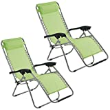 Garden Gear Zero Gravity Chair Recliner Chair with padded Cushion Headrest Folding