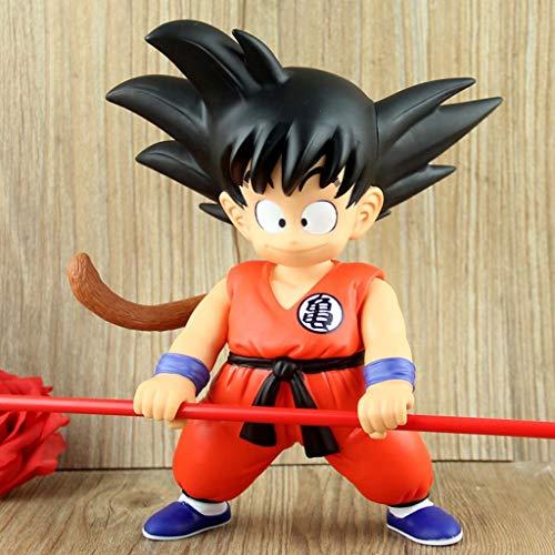 XINKONG Estatua de Juguete Dragon Ball Estatua de Juguete Exquisito Anime Decoración Decoración Saiyan Modelo de Juguete Infancia Sun Wukong 21 CM
