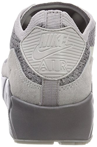 Nike Air Max 90 Ultra 2.0 Flyknit, Scarpe da Ginnastica Uomo Grigio (Atmosphere Grey/Light Bone/Gun)