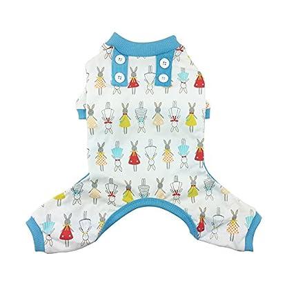 Pet Dog Pajamas,Kiao Soft Cotton Cartoon Doggie Home Wear Pet Jumpsuit Pyjamas Coat 1