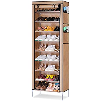 acorn fort s201 10 tiers shoe cabinet tower storage organizer shoe rack stand 58 x 28