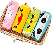 JUNGEN Lovely Pen Holder Hag for Children 4-pack (Pink, Yellow, Green and Blue) 18x5x5CM