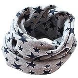 Tangbasi - sciarpa scaldacollo a stelle per bambini in cotone, fazzoletto da collo o sciarpa ad anello