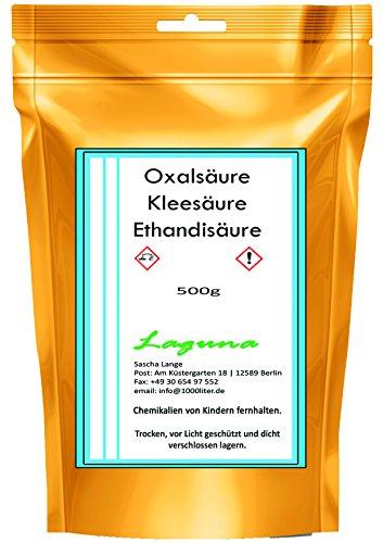 0,5kg Oxalsäure Kleesäure C2H2O4 Ethandisäure Fleckentferner 500g