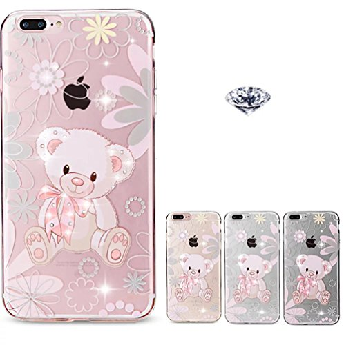 iPhone 7 Plus Hülle, Vandot Malerei TPU Schutzhülle für iPhone 7 Plus Transparent Painting Muster Druck Snowflake Schneeflocke Silikon Zurück Case Cover Gummi RubberPflaumenblüte Henna Mandala Floral  Color 28