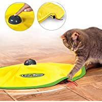 4 Speeds Cat Toy Undercover Mouse Fabric Cat's Meow Interactive Electronic Kitten Pet Play W/ Yellow Shirt