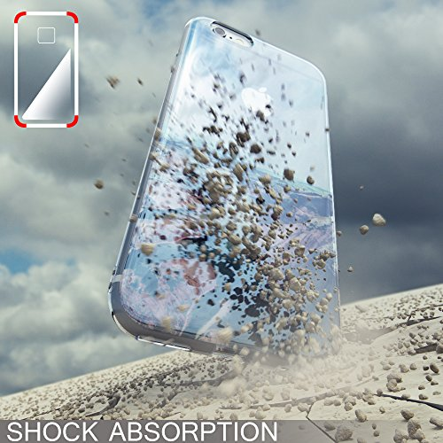 iPhone 8 / 7 Hülle Handyhülle von NICA, Slim Glitzer Silikon Motiv Case Crystal Schutz Dünn Durchsichtig, Handy-Tasche Back-Cover Transparent Bumper für Apple iPhone-7 / 8, Designs:Colored Bokeh Pastel Cubes