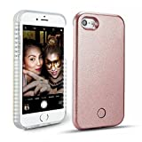 New Selfie Light iPhone 7 Plus Case , LED Light Up Flash Lighting Selfie Case Illuminated Protective Flashing Cover [ Dimmable Switch ] [ Rechargeable ] for Apple iiPhone 7 Plus (iPhone 7 Plus 5.5', Rose Gold)