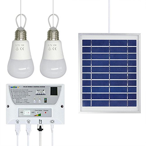 Solar-Lampen Multi-Funktions-Solar-Handy Lade-System mit LED-Beleuchtung für Reisen, Camping, zu Hause.