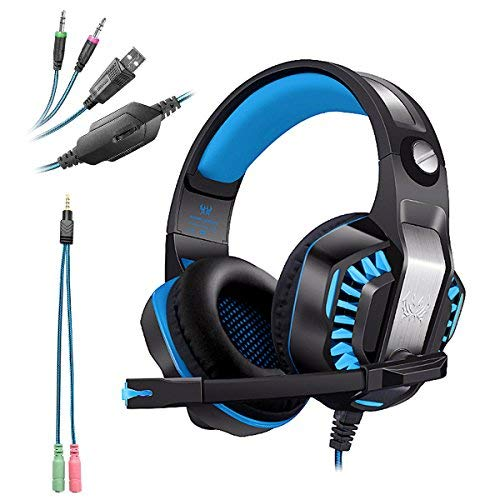 Kotion each g2000 usb+3.5mm cuffie gaming per ps4 con microfono cuffia da gioco gamer stereo led luce regolatore di volume noise cancelling per xbox one/ps4/pc/laptop/mac
