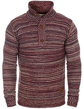!Solid Madden Jersey Suéter Troyer para Hombre con Cuello Alto De 100% Algodón