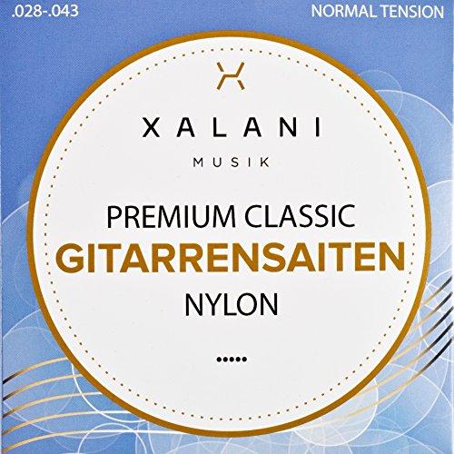 Gitarrensaiten Konzertgitarre von XALANI I ★ Extra D-Saite gratis ★ I Nylon Saiten Set für Klassische Gitarre und Akustikgitarre