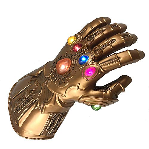 Yacn Marvel Avengers Infinity War Gauntlet Thanos Glove con 6 LED Brillante Gemas (LED-Glvoe)