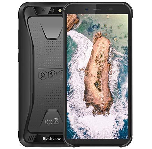 """Blackview BV5500 Robustes Android 8.1 3G-Smartphone ohne Vertrag, IP68 Wasserdicht/Stoßfest/Staubdicht, 1,3 GHz 2 GB + 16 GB, 5,5""""HD + Bildschirm, Dual-Kamera, 4400 mAh Akku GPS - Schwarz"""