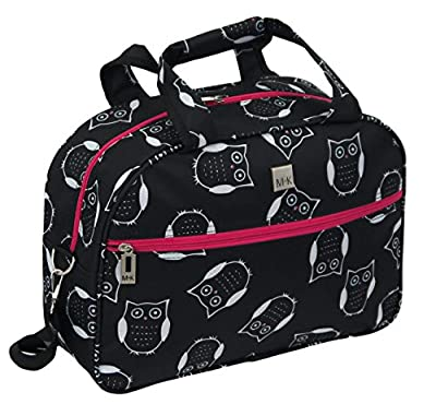 "Lightweight Small Cabin Bag Hand Luggage (Owl 16"" Flight Bag)"