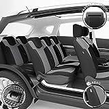 DBS 1012918 Autositzbezüge - nach Maß - hochqualitative Fertigung - Schnelle Montage - Kompatibel mit Airbag - Isofix