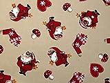 Minerva Crafts Weihnachten Santa Print Baumwolle Stoff