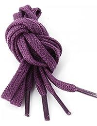 Les lacets Français - Lacets Plats Coton Couleur Prune